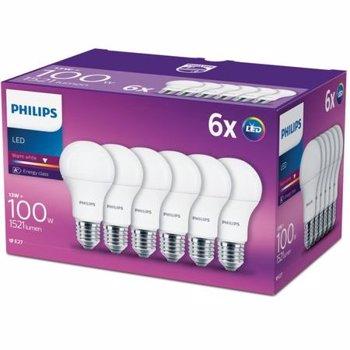 Set 6 becuri LED Philips E27 13W 100W 1521 lm A lumina calda 8718696586273