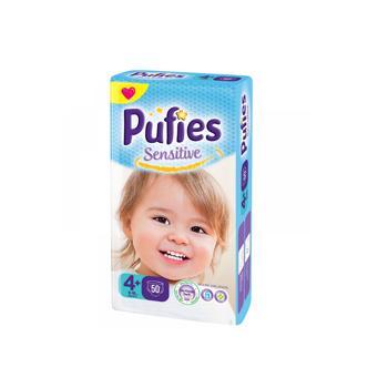 Scutece / Scutece Pufies Sensitive Nr. 4+, 9-16 kg, 50 buc