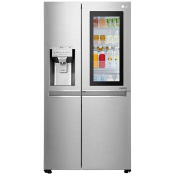 Side by Side LG GSX961NSAZ No Frost InstaView Door in Door 601 L Clasa A Dispenser apa Argintiu