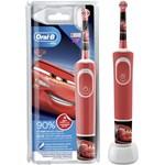 Periuta de dinti electrica Cars 3 ani+, Oral-B Vitality, 7600 oscilatii/min, 2 programe, 1 capat, 81716134, Rosu