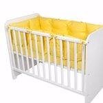 Set protectii laterale pentru pat 4 piese, 60 x 120 cm, Yellow
