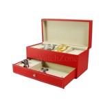 Cutie depozitare ceasuri si bijuterii Adele rosie