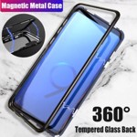 Husa Samsung Galaxy NOTE 8 Magnetica 360 grade BLACK Elegance Luxury cu spate de sticla securizata premium 01hmnote8n