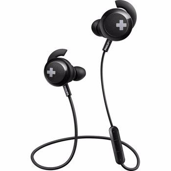 Casti audio In-Ear Philips SHB4305BK/00, Bluetooth, Bass+, Negru