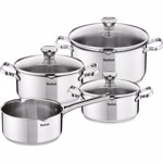 Set oale Tefal Duetto, 7 piese, material inox, inductie, interior gradat