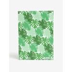 Carnetel A5 handmade verde cu print frunze - I Like Paper A5