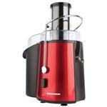 Storcator de fructe si legume Heinner TurboMax XF-8080-RD, 850 W, Recipient suc 1 l, Recipient pulpa 2 l, 2 Viteze, Tub de alimentare 75 mm, Negru/Rosu