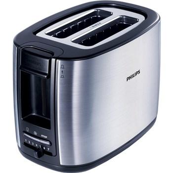 Prajitor de paine Philips HD2628/20, 950 W, 2 felii, functie decongelare, functie reincalzire, 7 trepte putere, negru + argintiu