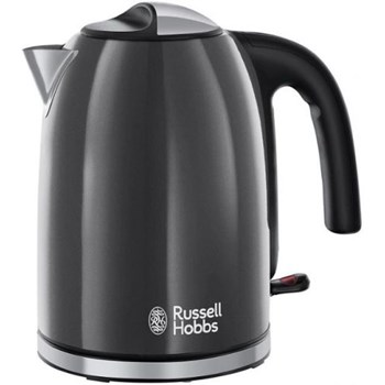 Fierbator Russell Hobbs Colours Plus Storm Grey 20414-70, 2400 W, 1.7 l, Fierbere rapida, Varf turnare perfecta, Gri/Inox