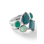 Bijuterii Femei Ippolita Sterling Silver Rock Candy Wonerland Multi Stone Prong and Bezel Ring in Neptune SILVER