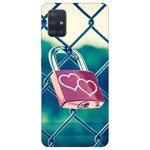 Husa Silicon Soft Upzz Print Samsung Galaxy A51 Model Heart Lock