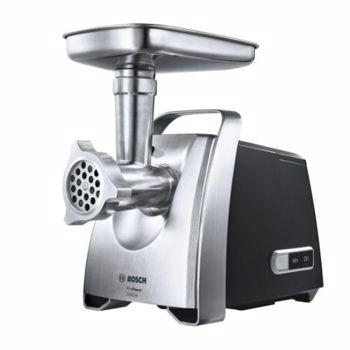Masina de tocat Bosch MFW68640, 2200 W, 4.3 kg/min, 3 site, Accesoriu carnati si kebbe, Negru/Argintiu