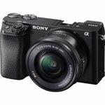 Aparat foto Mirrorless SONY Alpha A6100, 24.2 MP, 4K, Wi-Fi, negru + Obiectiv 16-50mm
