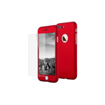 Husa Apple iPhone 8 Flippy Full Cover 360 Rosu + Folie de protectie
