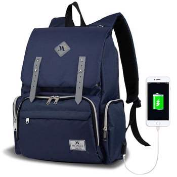 Rucsac maternitate cu port USB My Valice MOTHER STAR Baby Care Backpack, albastru închis