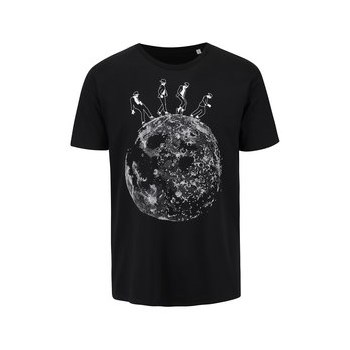 Tricou negru din bumbac organic ZOOT Originál Moonwalk