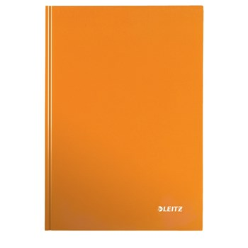 Caiet pentru birou, A5, matematica, portocaliu metalizat, LEITZ Wow