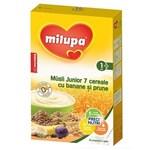 MILUPA Musli Junior 7 Cereale (fara lapte) cu banane si prune 250 g, 12+ luni