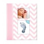 Caietul bebelusului cu amprenta cerneala, roz, Pearhead