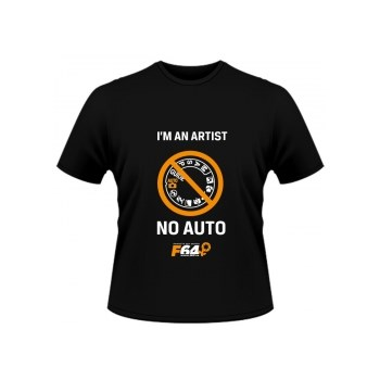 Tricou negru - I am an Artist (No Auto) - S