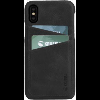 Husa de protectie Krusell Sunne Cover 2 Card pentru Apple iPhone XS, Leather Vintage Black