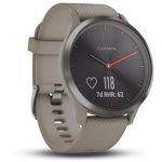 Ceas smartwatch Garmin Vivomove HR, Black, Sandstone Silicone Band