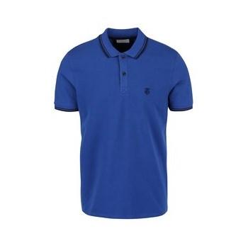 Tricou polo Selected Homme Season albastru