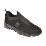 Pantofi OTTER negri, 799, din material textil si piele intoarsa