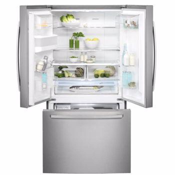 Combina frigorifica Electrolux EN6086MOX, No Frost Inteligent, 536 L, H 177.6 cm, Dozator apa, Racire/ Congelare rapida, Inox antiamprenta