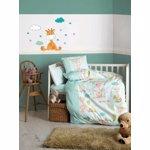 Set lenjerie de pat pentru copii Cotton Box, 129CTN3021, bumbac ranforce 100 procente, 120 x 150 cm