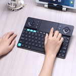 Tastatura wireless Smart TV PC tableta dual mode carcasa aluminiu Rii K16 husa RTMWK16