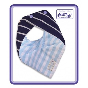Doublez French Stripe/Pale Blue Gingham