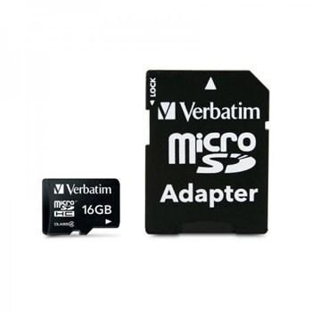 Card Verbatim microSDHC 16GB + Adaptor SD
