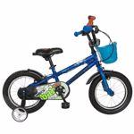 """Bicicleta Copii VELORS V1401A, Roti 14"""", cosulet, roti ajutatoare (Albastru)"""