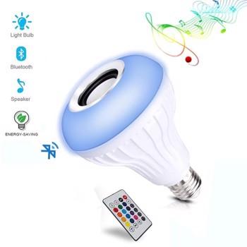 Bec LED inteligent, RGB, BT, E27, 12W, temperatura lumina Rece/Calda, compatibil Android/iOS