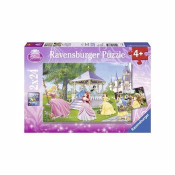 Puzzle Ravensburger - Printesele incantatoare, 2x24 piese