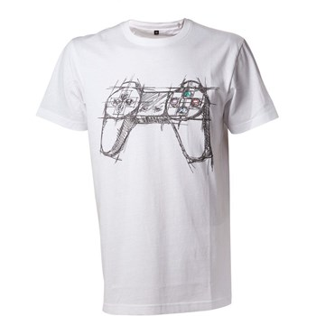 Tricou Playstation White controller marimea xl