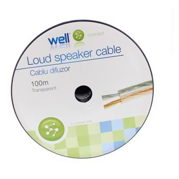 Cablu Difuzor Transparent 2x4.00mmp, 100m, Well