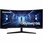 Monitor LED Samsung Odyssey G5 WQHD 3440*1440, curbat 1000R, 21:9, VA, 250 cd/ mp, 2500:1, HDR10, 1 MPRT, 178/178, 165 Hz, Eye Saver Mode, Flicker Free, PBP, FreeSync Premium, DP, HDMI, Headphone, VESA 75*75, culoare negru