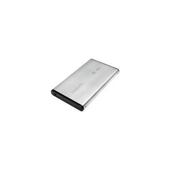 "RACK EXTERN 2.5"" USB2.0/SATA, Alu, silver, LOGILINK UA0041A"