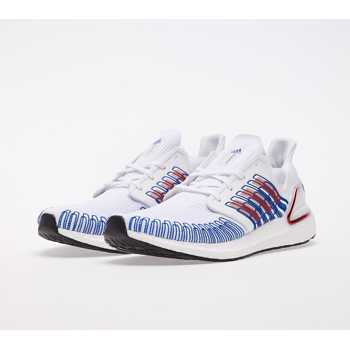 adidas UltraBOOST 20 Ftw White/ Scarlet/ Royal Blue