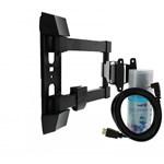 """Kit suport TV de perete Well TVS-LCD-SW355-WL, reglabil, 23""""- 55"""" + solutie curatare + cablu HDMI"""
