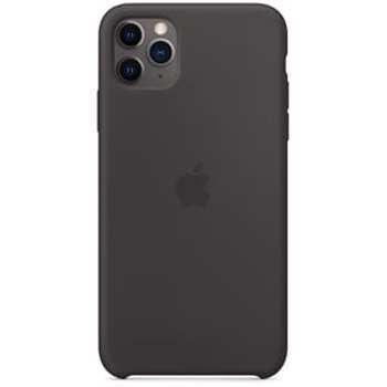 Husa originala din Silicon Negru pentru APPLE iPhone 11 Pro Max