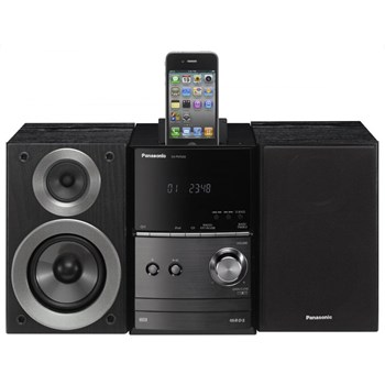 CD player/tuner and loudspeaker; Power: 2x 20W RMS; Playback formats: CD-R(W)/MP3; Tuner: RDS; Consumption: 19W; Special features: USB, iPod connection SC-PM500EP-K