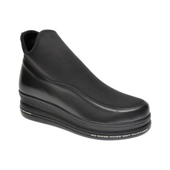 Ghete FLAVIA PASSINI negre, 881013, din material textil si piele naturala