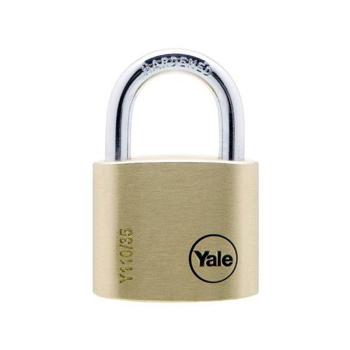 Lacat de alama Yale Y110/35/121/1, cu cheie, corp de 35 mm