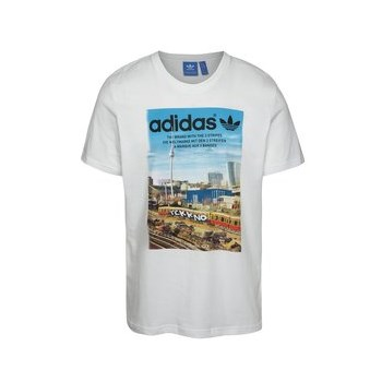 Tricou alb adidas Originals Spree Vollgas cu print