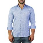 Imbracaminte Barbati Maceoo Fibonacci Print Tailored Fit Dress Shirt BLUE
