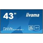 """Iiyama Display Public 43"""" UHD LE4340UHS-B1"""