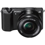 Aparat foto Mirrorless SONY Alpha A5100, 24.3 MP, Wi-Fi, negru + Obiectiv 16-50mm